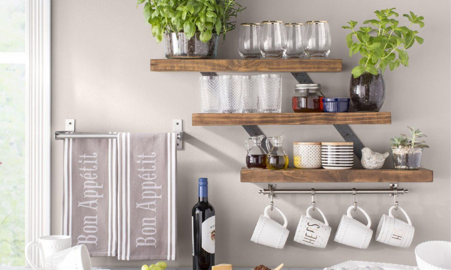 Tiered Shelving